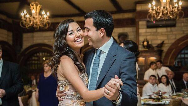Сафура Ализаде со своим мужем, фото из архива - Sputnik Азербайджан