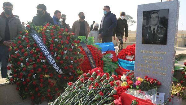 Почтена память генерал-майора, Национального героя Азербайджана Полада Гашимова  - Sputnik Азербайджан