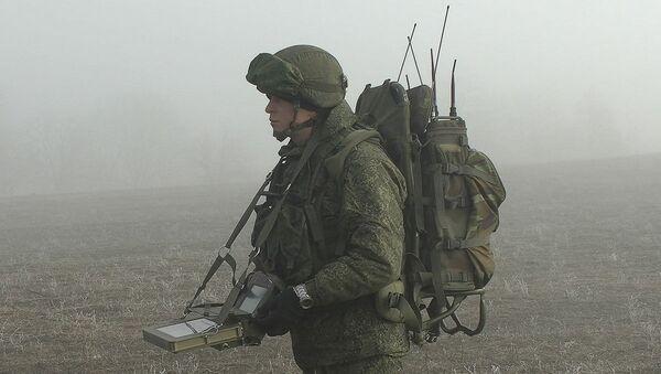 Инженерные подразделения российских миротворческих сил в Нагорном Карабахе проводят разминирование Ханкенди - Sputnik Azərbaycan