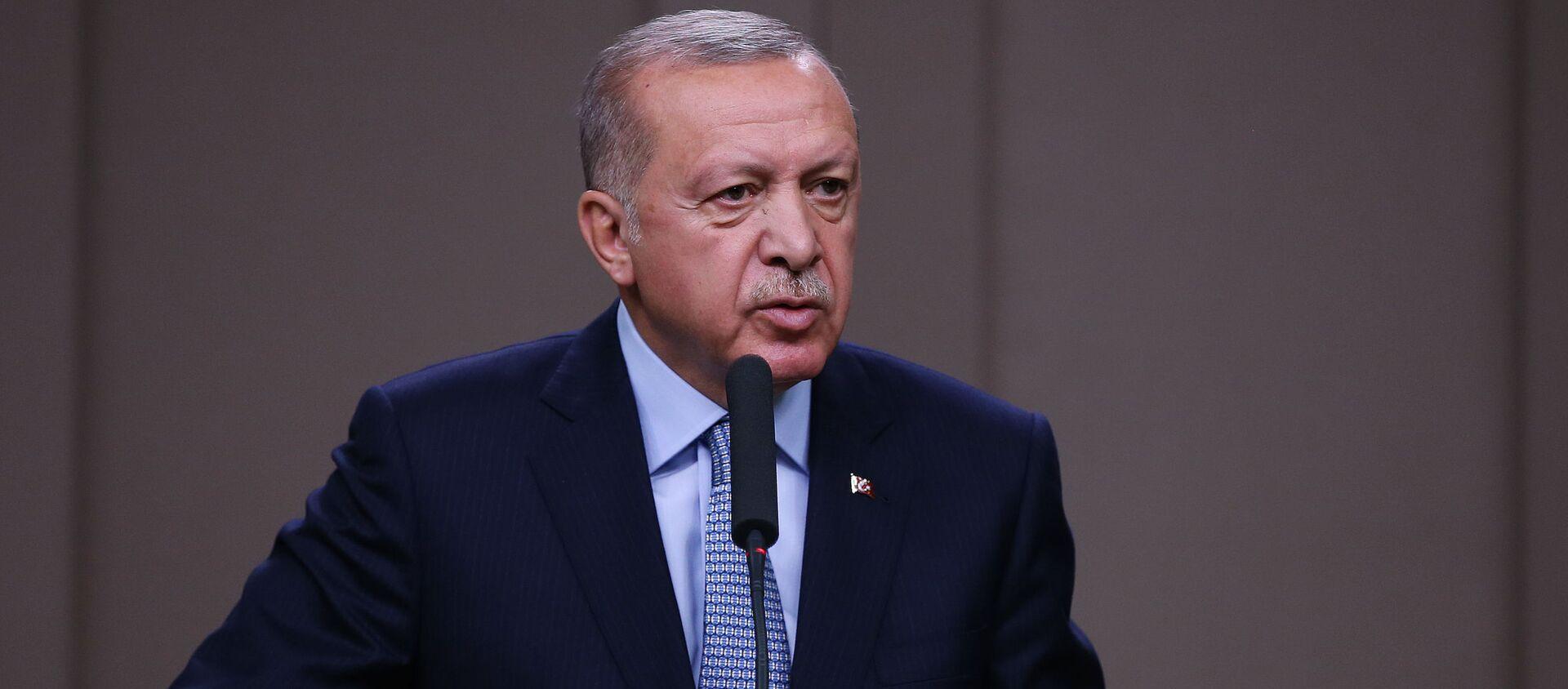 Президент Турции Реджеп Тайип Эрдоган, фото из архива - Sputnik Азербайджан, 1920, 04.03.2021