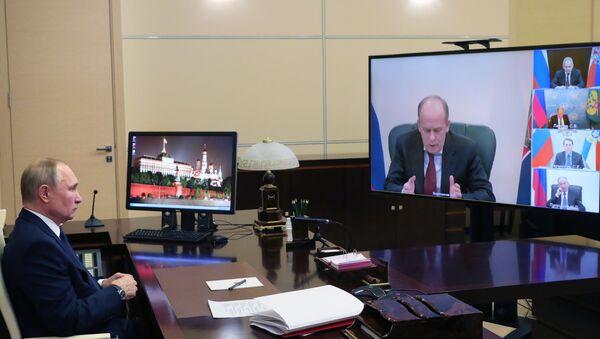 Президент РФ В. Путин провел совещание по вопросам нагорно-карабахского урегулирования - Sputnik Азербайджан