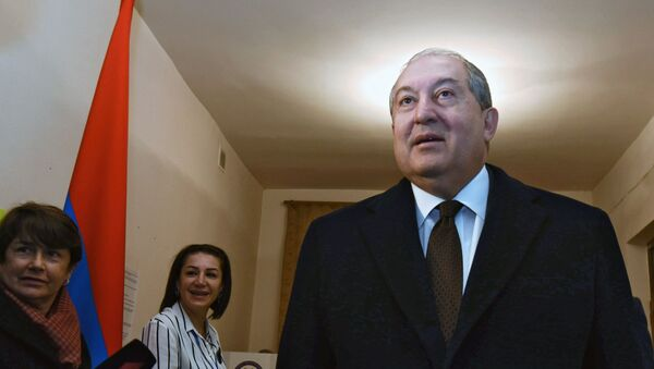 Президент Армении Армен Саркисян, фото из архива - Sputnik Azərbaycan