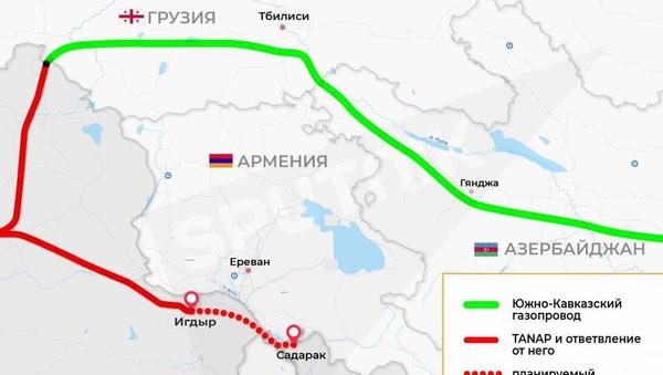 Инфографика: Газопровод из Турции в Нахчыванскую автономную республику (Азербайджан) - Sputnik Азербайджан