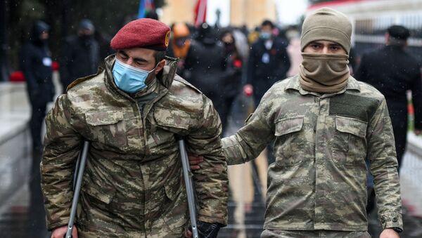 Траурное шествие на Аллее шехидов, 20 января 2021 год - Sputnik Азербайджан