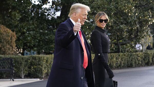 Дональд Трамп и Мелания Трамп, фото из архива - Sputnik Azərbaycan