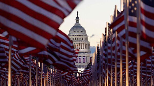 Вид на Капитолий в Вашингтоне, фото из архива - Sputnik Азербайджан