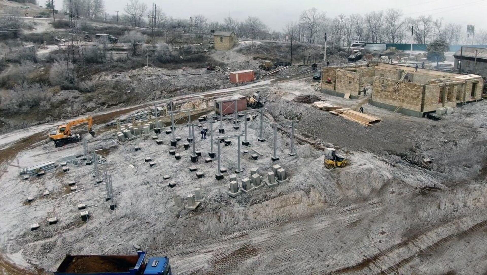 В Шуше строиться новая электроподстанция - Sputnik Азербайджан, 1920, 22.09.2021