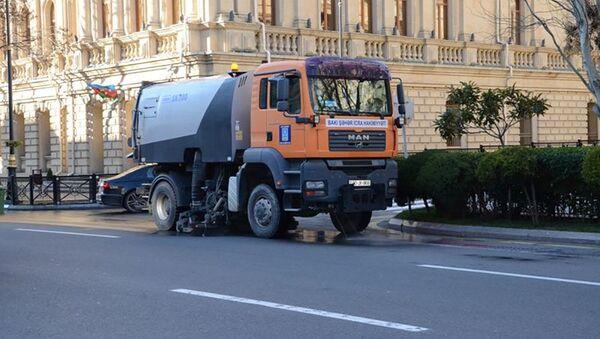 Təmizlik işləri - Sputnik Азербайджан
