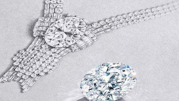 Tiffany заявляет о покупке исключительного 80-каратного бриллианта - Sputnik Азербайджан