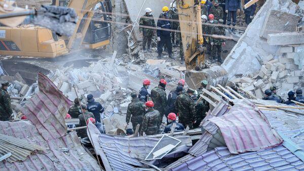 Последствие взрыва в Хырдалане - Sputnik Азербайджан