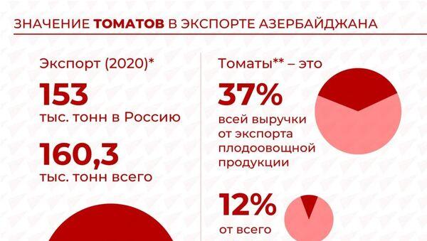 Инфографика: Значение томатов в экспорте Азербайджана - Sputnik Азербайджан