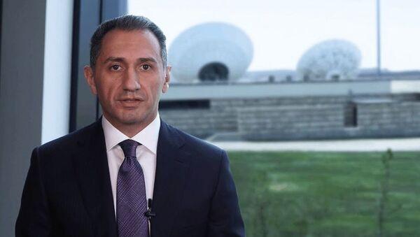 Nəqliyyat, rabitə və yüksək texnologiyalar naziri Rəşad Nəbiyev, arxiv şəkli - Sputnik Азербайджан