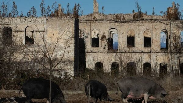 Дворца хана Джаваншира в Шуше - Sputnik Азербайджан
