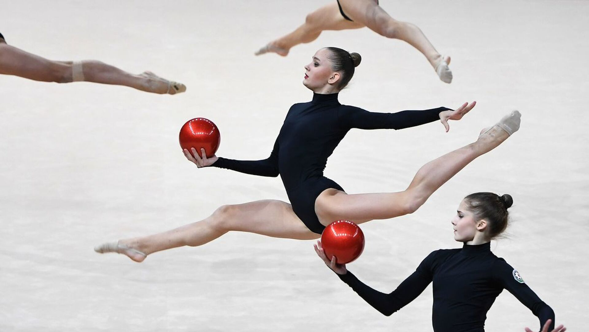 Азербайджанские гимнастки, фото из архива - Sputnik Азербайджан, 1920, 20.09.2021