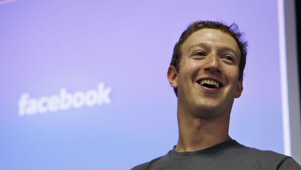 Основатель и главный исполнительный директор Facebook Марк Цукерберг - Sputnik Азербайджан