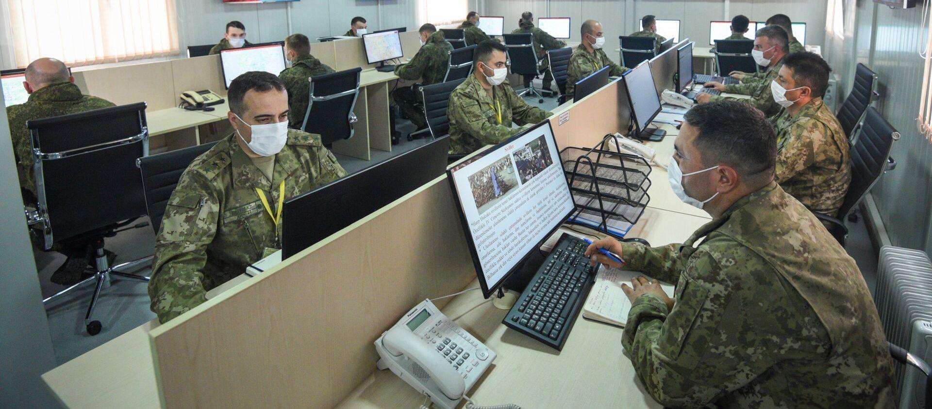 Российско-турецкий центр контроля за соблюдением перемирия в Нагорном Карабахе - Sputnik Азербайджан, 1920, 09.02.2021