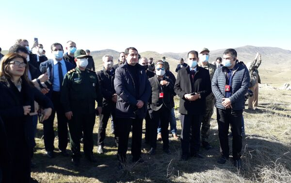 Представители дипкорпуса в Джебраильском районе - Sputnik Азербайджан