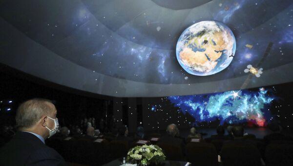 Презентация космической программы для отправки турецких астронавтов в космос, фото из архива - Sputnik Азербайджан