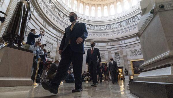 Процесс по импичменту бывшего президента Дональда Трампа во вторник, 9 февраля 2021 года, в Вашингтоне - Sputnik Азербайджан