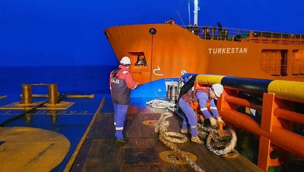Грузовое судно Туркестан - Sputnik Азербайджан