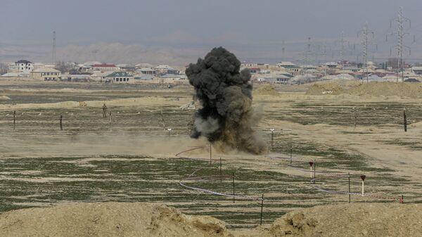 Подрыв боеприпасов, фото из архива - Sputnik Азербайджан