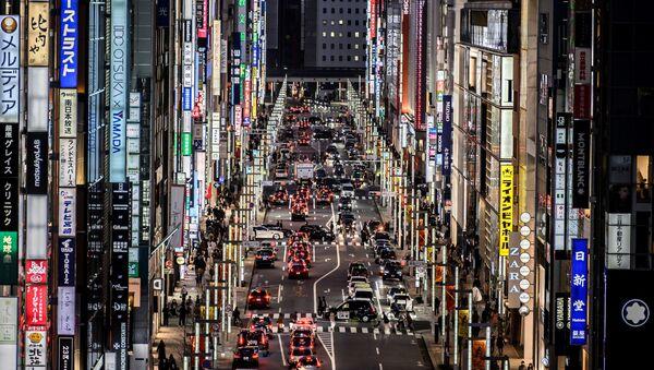 Вид на район Гиндза в Токио - Sputnik Азербайджан