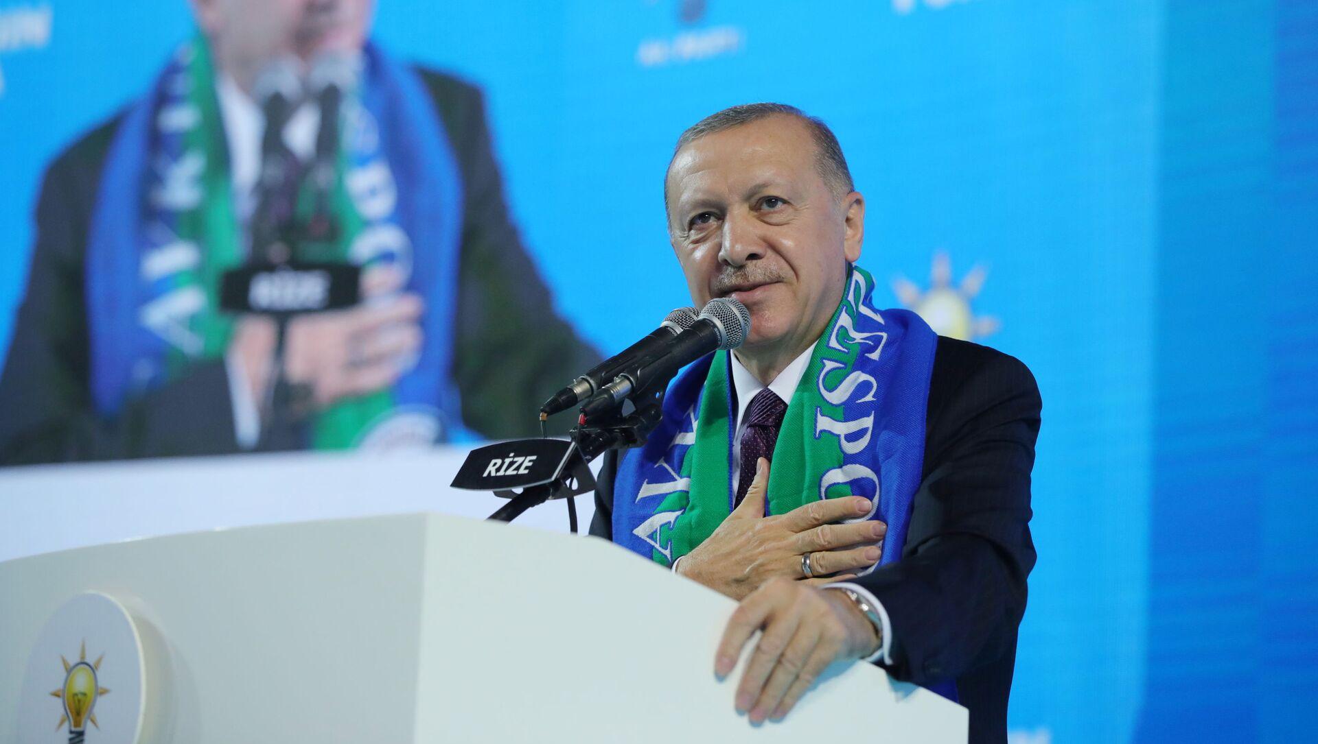 Президент Турции Реджеп Тайип Эрдоган, фото из архива - Sputnik Azərbaycan, 1920, 27.08.2021