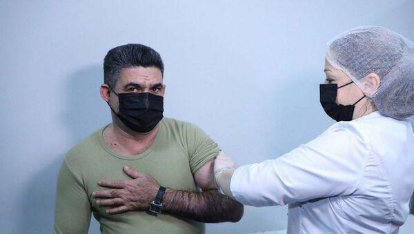 DSX əməkdaşlarının vaksinasiyası - Sputnik Азербайджан