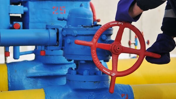 Вентиль на трубопроводе, фото из архива - Sputnik Азербайджан