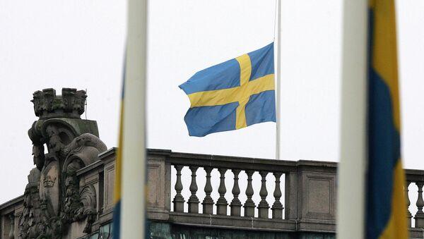 Флаг Швеции, фото из архива - Sputnik Азербайджан