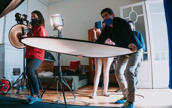 Сьемки проекта Arts Council Azerbaijan «Семь красавиц» - Sputnik Азербайджан