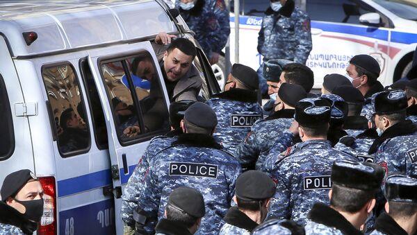 Протесты в Ереване, фото из архива - Sputnik Azərbaycan