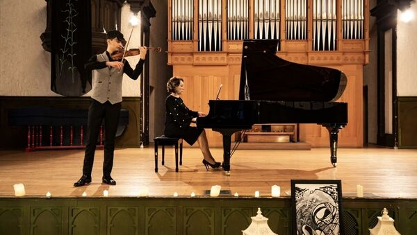 В Зале камерной и органной музыки Азербайджанской государственной академической филармонии имени Муслима Магомаева - Sputnik Азербайджан