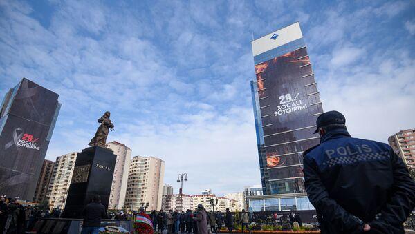 Xocalı soyqırımı qurbanlarının xatirəsini anım mərasimi, 26 fevral 2021-ci il - Sputnik Азербайджан