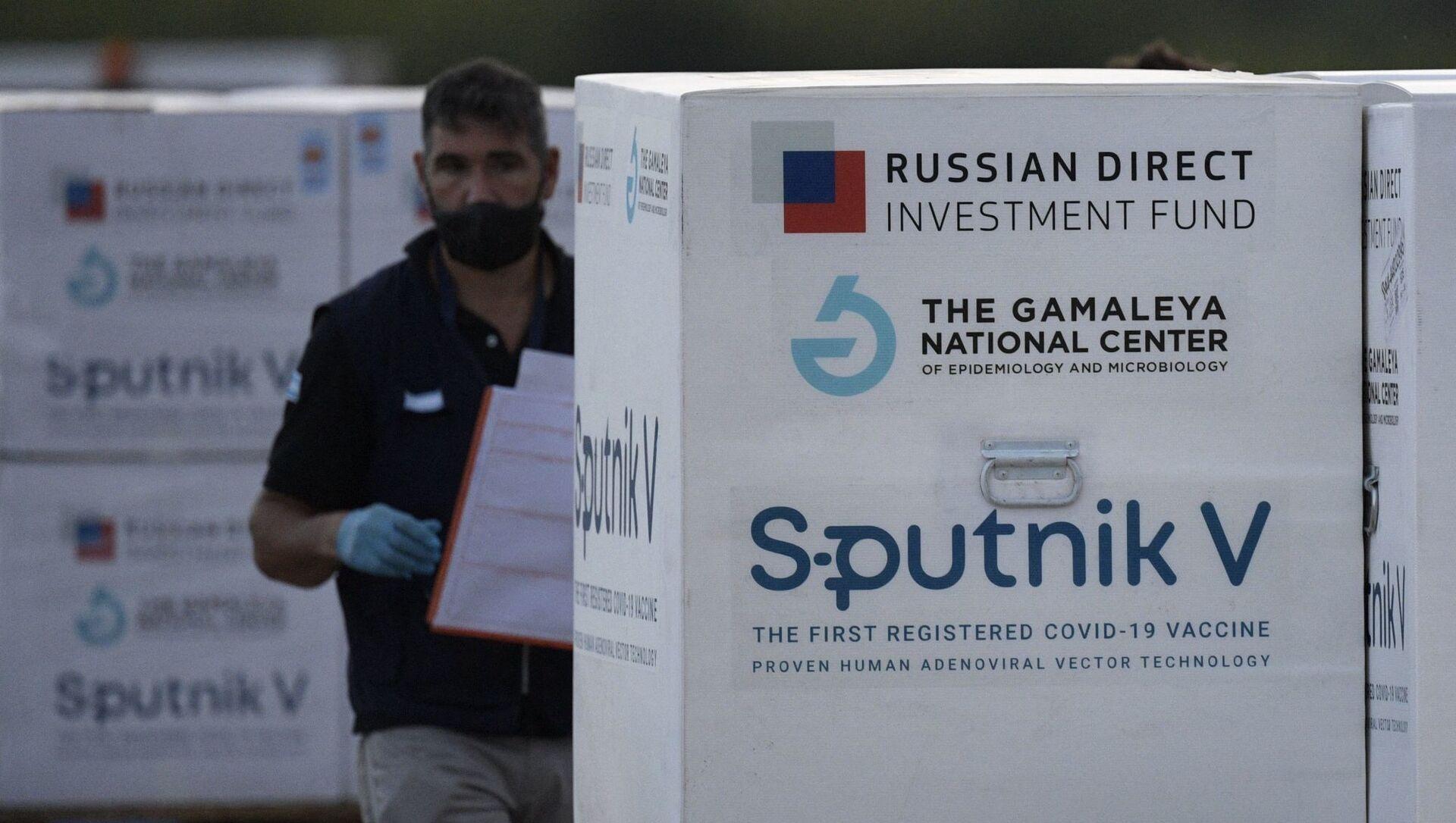 Партия вакцины Sputnik V, фото из архива - Sputnik Азербайджан, 1920, 07.04.2021