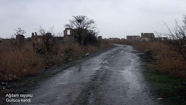 Минобороны показало состояние освобожденного агдамского села Гюллюджа - Sputnik Azərbaycan