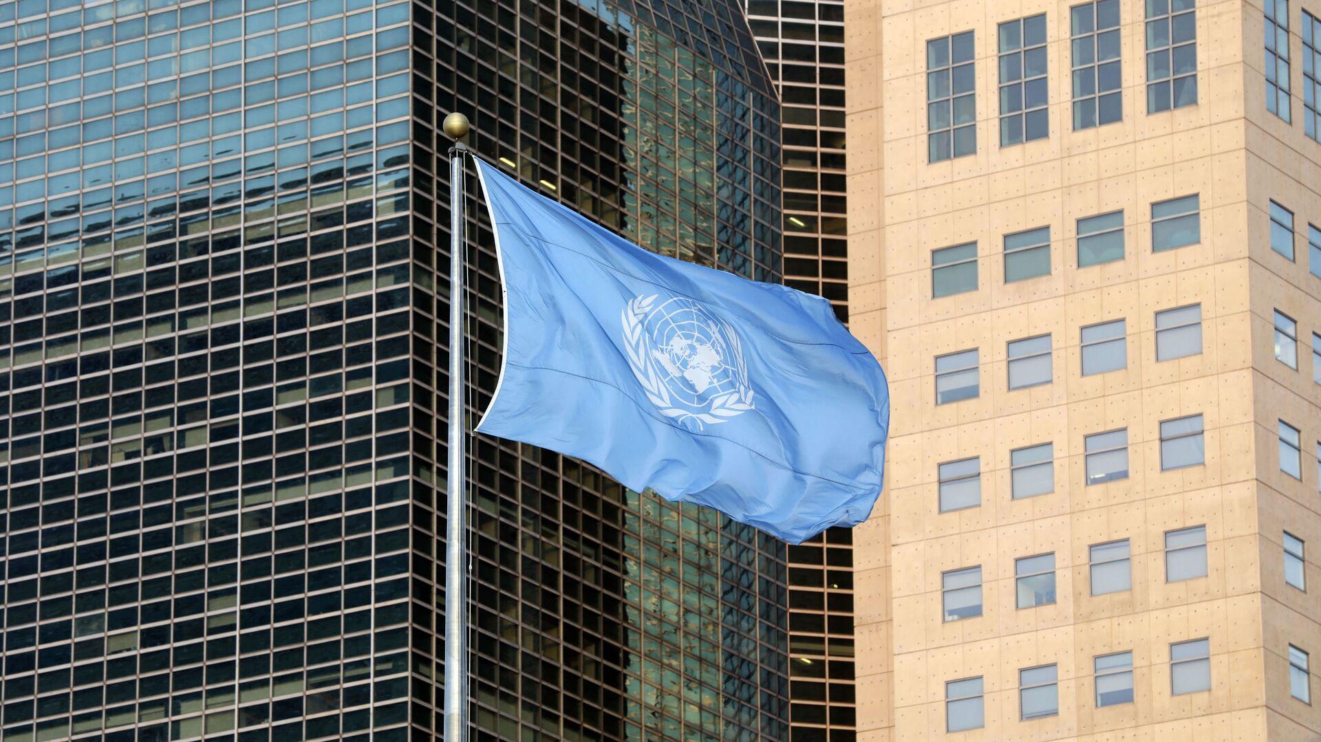 Флаг ООН, фото из архива - Sputnik Azərbaycan, 1920, 26.09.2021