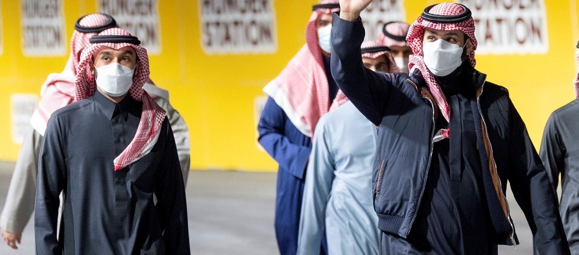 Пандемия коронавируса - представители королевской семьи Саудовской Аравии в масках в Эр-Рияде - Sputnik Азербайджан, 1920, 02.03.2021