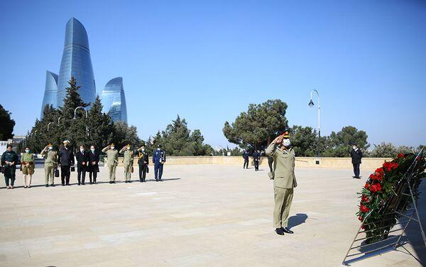 Визит председателя Объединенного комитета начальников штабов Исламской Республики Пакистан генерала Надима Раза в Баку - Sputnik Азербайджан