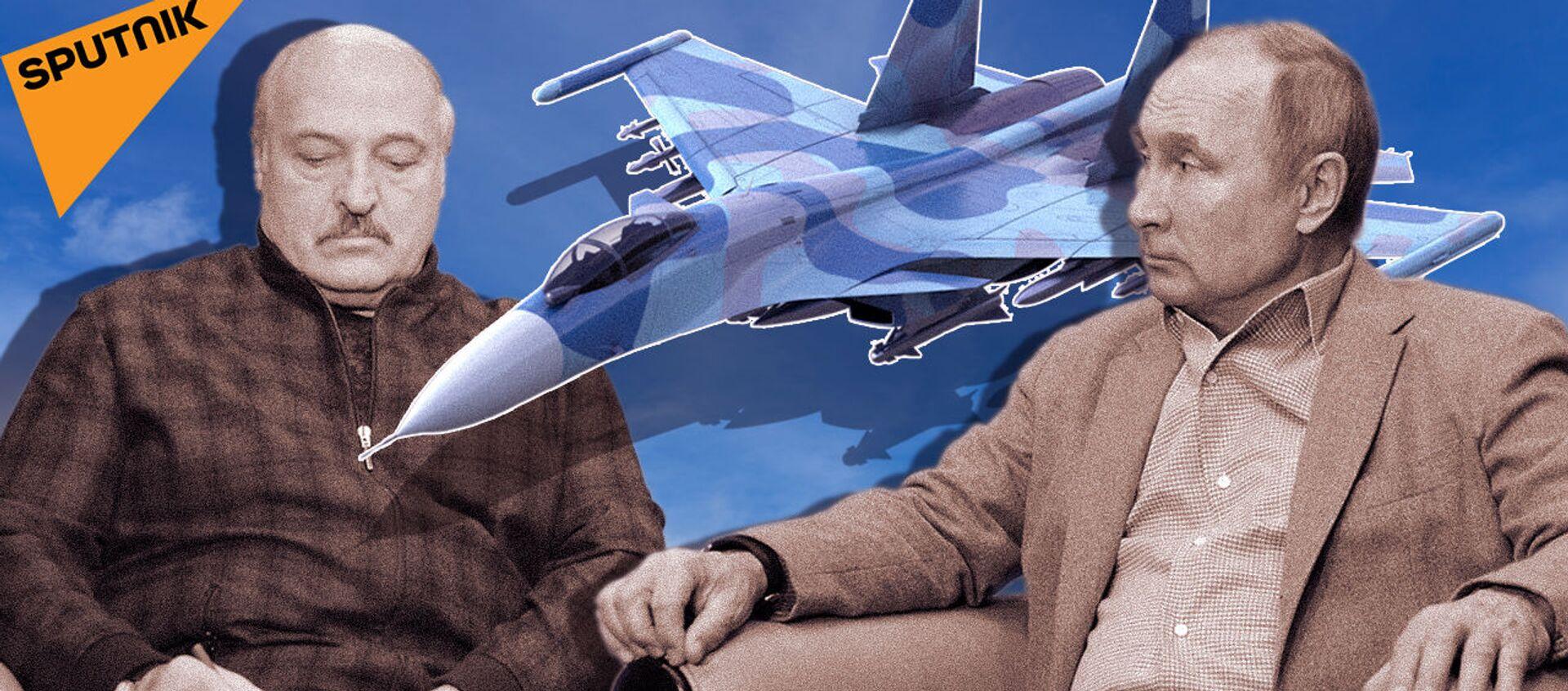 Лукашенко попросил у Путина дополнительные истребители. Зачем ему Су-30СМ? - Sputnik Азербайджан, 1920, 04.03.2021