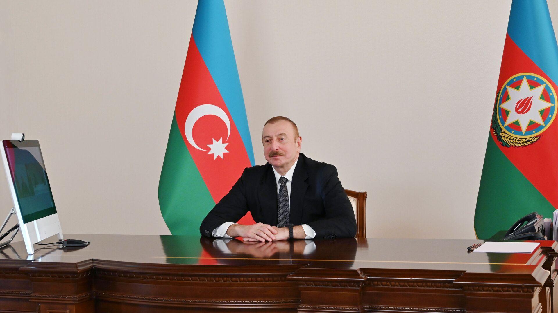Президент Ильхам Алиев выступил на онлайн Саммите Организации экономического сотрудничества - Sputnik Azərbaycan, 1920, 23.09.2021