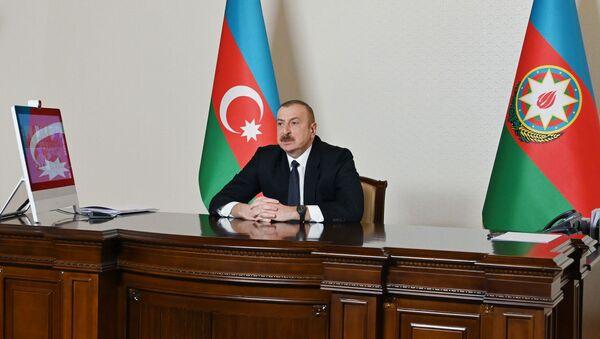 Prezident İlham Əliyev YAP-ın qurultayında, 05 mart 2021-ci il - Sputnik Азербайджан