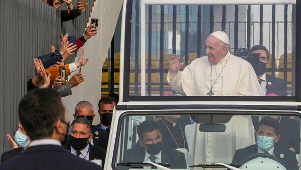 Папа Римский Франциск в Ираке - Sputnik Azərbaycan