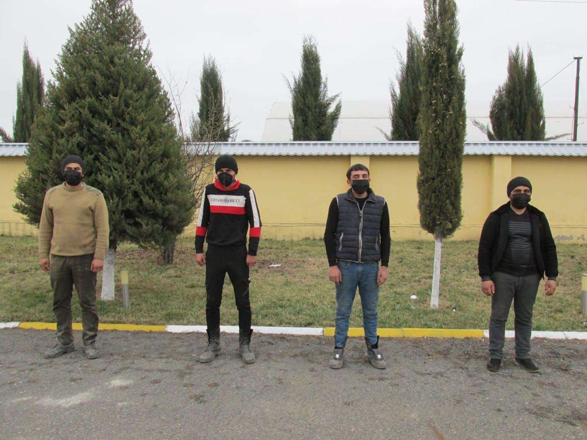 На освобожденных землях задержана очередная группа нарушителей - Sputnik Азербайджан, 1920, 08.03.2021