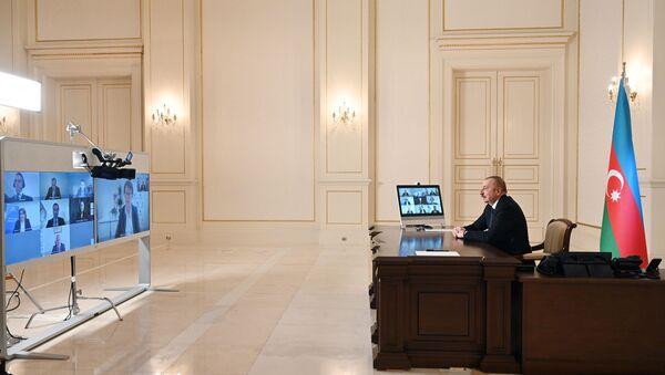 Prezident İlham Əliyev Avropa Yenidənqurma və İnkişaf Bankının yeni prezidentini videoformatda qəbul edib - Sputnik Azərbaycan