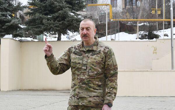 Президент Ильхам Алиев посетил Физулинский и Ходжавендский районы - Sputnik Азербайджан
