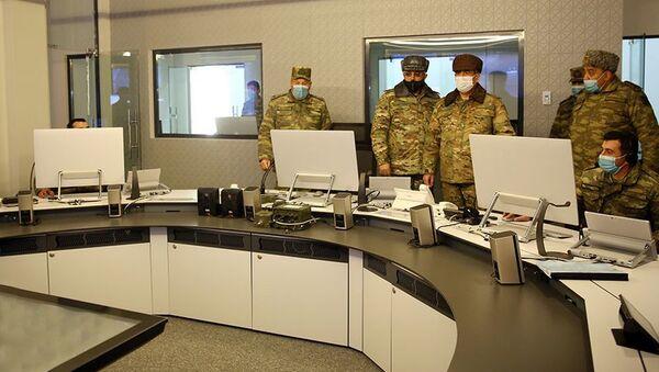 Закир Гасанов и руководящий состав министерства посетили Объединенный командный пункт - Sputnik Азербайджан