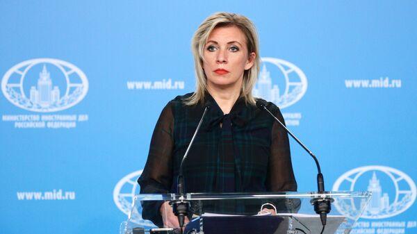 Rusiya XİN-in rəsmi nümayəndəsi Mariya Zaxarova - Sputnik Azərbaycan