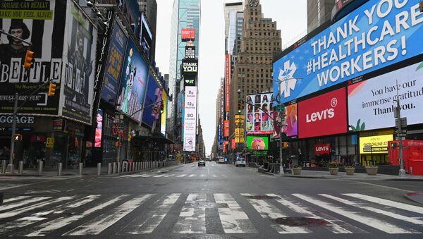 Площадь Таймс-Сквер в Нью-Йорке, фото из архива - Sputnik Азербайджан