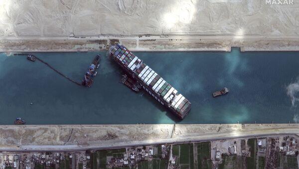 "Süveyş kanalında ""Ever Given"" konteyner gəmisi  - Sputnik Азербайджан"